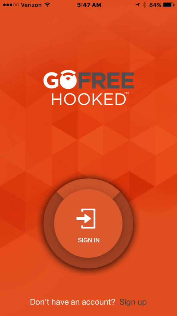 01 Hooked App Sign-Up Screens-Steps - GoFree